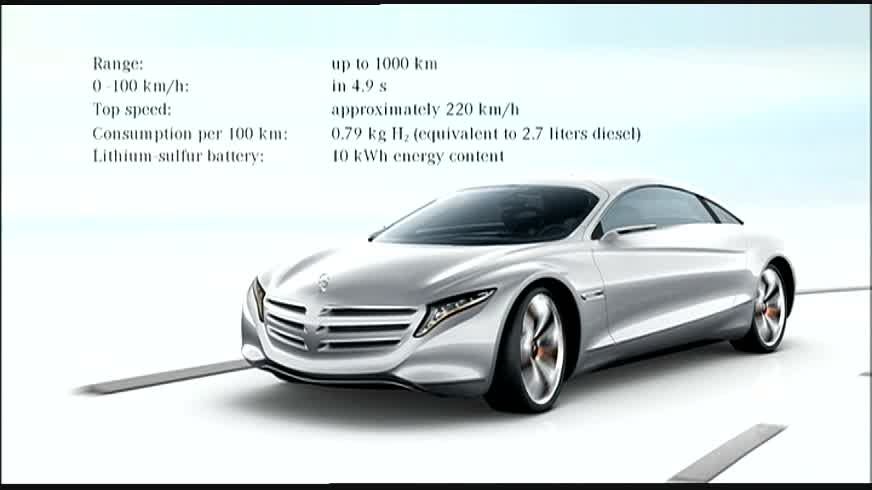 Mercedes-Benz F 125! Research Vehicle F-CELL- Plug-in HYBRID and e4MATIC Animation